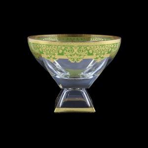 Fusion MVD F0024 Large Bowl 19,5x24,5cm 1pc in Natalia Golden Green Decor (F0024-016H)