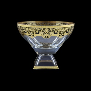 Fusion MVD F0026 Large Bowl 19,5x24,5cm 1pc in Natalia Golden Black Decor (F0026-016H)