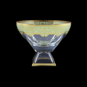 Fusion MVD F002T Large Bowl 19,5x24,5cm 1pc in Natalia Golden Turquoise Decor (F002T-016H)