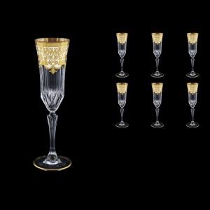 Adagio CFL F0021 Champagne Flutes 180ml 6pcs in Natalia Golden White Decor (F0021-0410)