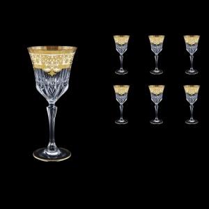 Adagio C2 F0021 Wine Glasses 280ml 6pcs in Natalia Golden White Decor (F0021-0412)