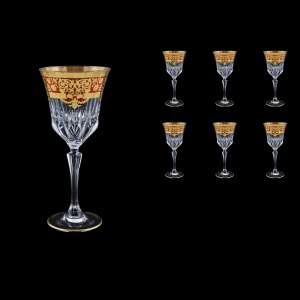 Adagio C2 F0022 Wine Glasses 280ml 6pcs in Natalia Golden Red Decor (F0022-0412)