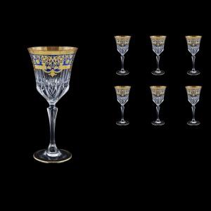 Adagio C2 F0023 Wine Glasses 280ml 6pcs in Natalia Golden Blue Decor (F0023-0412)