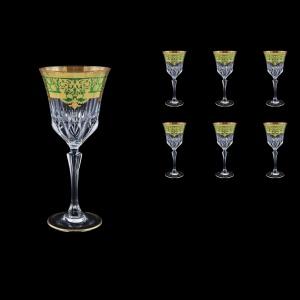 Adagio C2 F0024 Wine Glasses 280ml 6pcs in Natalia Golden Green Decor (F0024-0412)