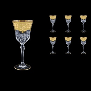 Adagio C2 F0025 Wine Glasses 280ml 6pcs in Natalia Golden Ivory Decor (F0025-0412)
