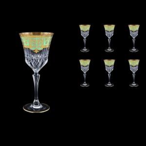Adagio C2 F002T Wine Glasses 280ml 6pcs in Natalia Golden Turquoise Decor (F002T-0412)