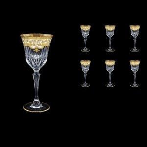 Adagio C3 F0021 Wine Glasses 220ml 6pcs in Natalia Golden White Decor (F0021-0413)