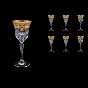 Adagio C3 F0022 Wine Glasses 220ml 6pcs in Natalia Golden Red Decor (F0022-0413)