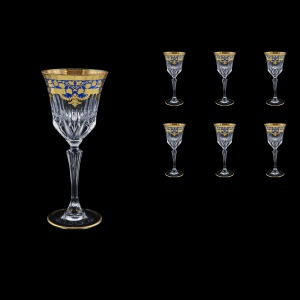 Adagio C3 F0023 Wine Glasses 220ml 6pcs in Natalia Golden Blue Decor (F0023-0413)
