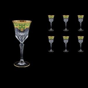 Adagio C3 F0024 Wine Glasses 220ml 6pcs in Natalia Golden Green Decor (F0024-0413)