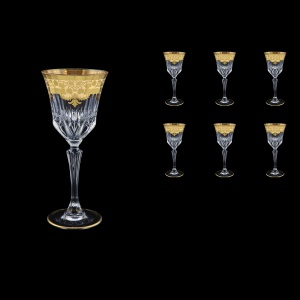 Adagio C3 F0025 Wine Glasses 220ml 6pcs in Natalia Golden Ivory Decor (F0025-0413)