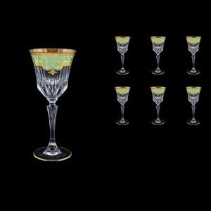 Adagio C3 F002T Wine Glasses 220ml 6pcs in Natalia Golden Turquoise Decor (F002T-0413)