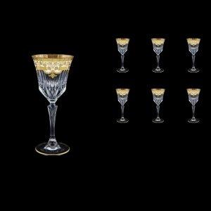 Adagio C4 F0021 Wine Glasses 150ml 6pcs in Natalia Golden White Decor (F0021-0414)
