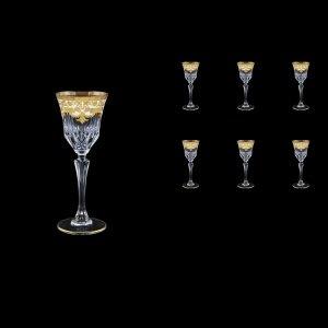 Adagio C5 F0021 Liqueur Glasses 80ml 6pcs in Natalia Golden White Decor (F0021-0415)
