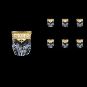 Adagio B2 F0021 Whisky Glasses 350ml 6pcs in Natalia Golden White Decor (F0021-0402)