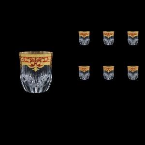 Adagio B2 F0022 Whisky Glasses 350ml 6pcs in Natalia Golden Red Decor (F0022-0402)