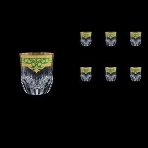 Adagio B2 F0024 Whisky Glasses 350ml 6pcs in Natalia Golden Green Decor (F0024-0402)