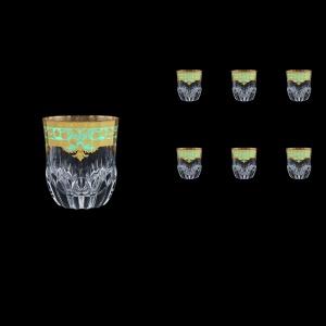 Adagio B2 F002T Whisky Glasses 350ml 6pcs in Natalia Golden Turquoise Decor (F002T-0402)