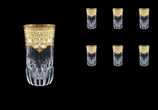 Adagio B0 F0021 Water Glasses 400ml 6pcs in Natalia Golden White Decor (F0021-0400)