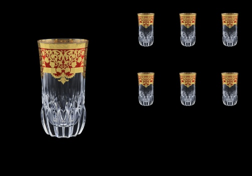 Adagio B0 F0022 Water Glasses 400ml 6pcs in Natalia Golden Red Decor (F0022-0400)