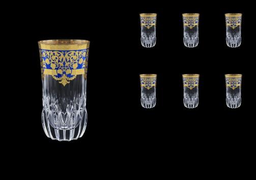 Adagio B0 F0023 Water Glasses 400ml 6pcs in Natalia Golden Blue Decor (F0023-0400)