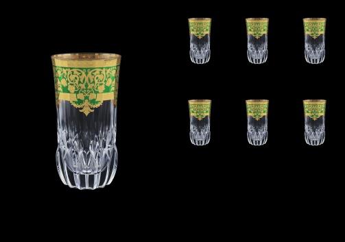 Adagio B0 F0024 Water Glasses 400ml 6pcs in Natalia Golden Green Decor (F0024-0400)