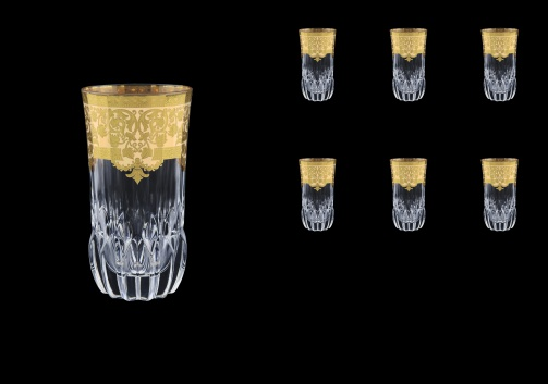 Adagio B0 F0025 Water Glasses 400ml 6pcs in Natalia Golden Ivory Decor (F0025-0400)