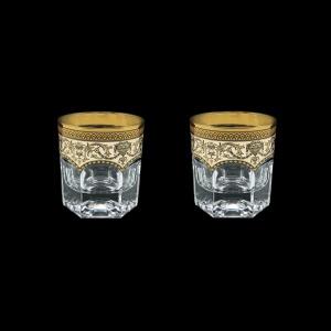 Provenza B2 PEGI Whisky Glasses 280ml 2pcs in Flora´s Empire Golden Ivory Decor (25-527/2)