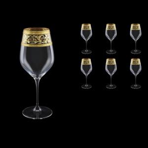 Supreme CWX SALK Bordeaux Glass 810ml, 6pcs in Allegro Golden Light Decor (65-4016/L)