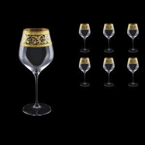 Supreme CWB SALK Burgundy Glass 840ml, 6pcs in Allegro Golden Light Decor (65-4017/L)