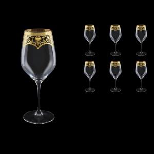 Supreme CWX SEGK Bordeaux Glass 810ml, 6pcs in Flora´s Empire Gold. Crystal D. (20-4016/L)
