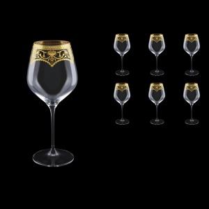 Supreme CWB SEGK Burgundy Glass 840ml, 6pcs in Flora´s Empire Gold. Crystal D. (20-4017/L)