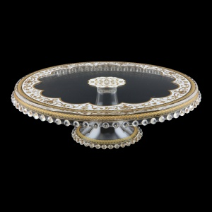 Zefyros CPY ZEGW Cake Plate Down d32cm, 1pc in Flora´s Empire Golden White L. (21-5E71/L)