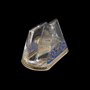 Minerva NA MEGC Napkin 9,8x6cm, 1pc in Flora´s Empire Golden Blue L. (23-5H0D/L)