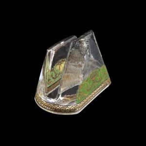 Minerva NA MEGG Napkin 9,8x6cm, 1pc in Flora´s Empire Golden Green L. (24-5H0D/L)