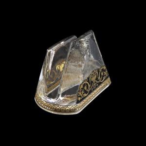 Minerva NA MEGB Napkin 9,8x6cm, 1pc in Flora´s Empire Golden Black L. (26-5H0D/L)