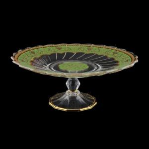 Afrodita CPB AEGG Cake Plate d27cm, 1pc in Flora´s Empire Golden Green L. (24-5A77/L)