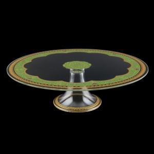 Eris CPE EEGG Cake Plate d31cm, 1pc in Flora´s Empire Golden Green L. (24-5J73/L)