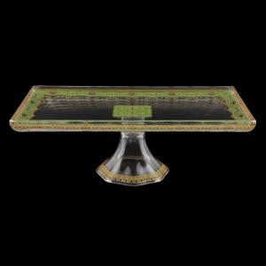 Gaia QTK KEGG Quadro Tray 32x18cm, 1pc in Flora´s Empire Golden Green L. (24-5F90/L)