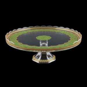 Kairos CPK KEGG Cake Plate d32cm, 1pc in Flora´s Empire Golden Green L. (24-5D76/L)