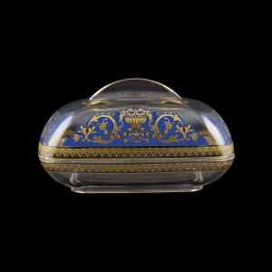 Rheia DO REGC Butter Dose 15x11,8cm, 1pc in Flora´s Empire Golden Blue L. (23-5I0E/L)