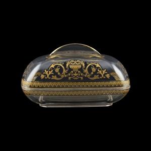 Rheia DO REGB Butter Dose 15x11,8cm, 1pc in Flora´s Empire Golden Black L. (26-5I0E/L)