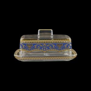 Victoria DO VEGC Butter Dose 14,5x12cm, 1pc in Flora´s Empire Golden Blue L. (23-5K0F/L)