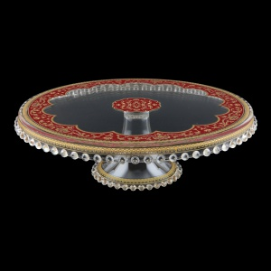 Zefyros CPY ZEGR Cake Plate Down d32cm, 1pc in Flora´s Empire Golden Red L. (22-5E71/L)