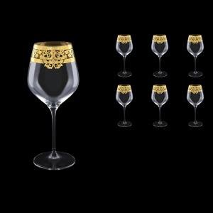 Supreme CWB F0020 Burgundy Glass 840ml, 6pcs in Natalia Golden Crystal D. (F0020-4017)