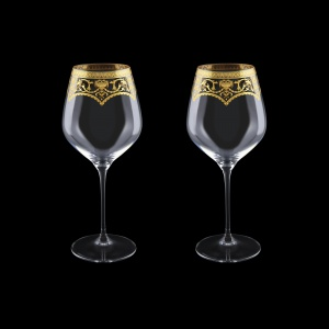 Supreme CWB SEGK Burgundy Glass 840ml, 2pcs in Flora´s Empire Gold. Crystal (20-4017/2/L)