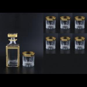 Timeless Set WD+B2 TAGB b Whisky Set 750ml+6x360ml in Antique Golden Black (57-280/291/b)
