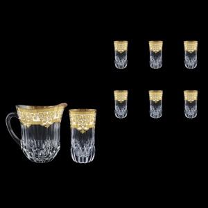 Adagio Set J+B0 F0021 1230ml+6x400ml 1+6pcs in Natalia Golden White Decor (F0021-0430)