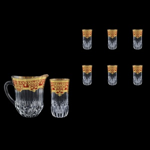 Adagio Set J+B0 F0022 1230ml+6x400ml 1+6pcs in Natalia Golden Red Decor (F0022-0430)