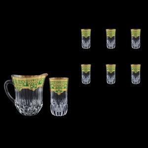 Adagio Set J+B0 F0024 1230ml+6x400ml 1+6pcs in Natalia Golden Green Decor (F0024-0430)